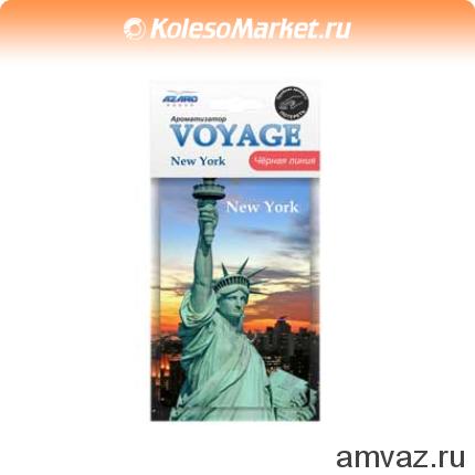 """Ароматизатор подвесной картонный """"Voyage Нью-Йорк"""" Черная линия"""