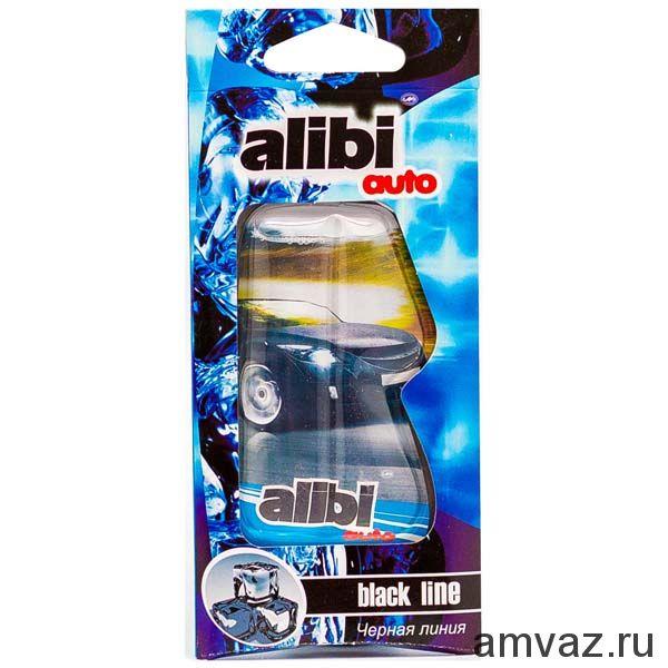 """Ароматизатор подвесной """"Alibi Auto"""" Черная линия"""