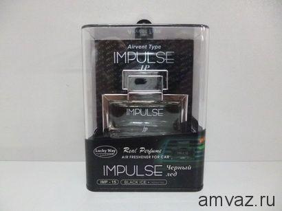 """Ароматизатор в дефлектор """"Impulse"""" Черный лед"""