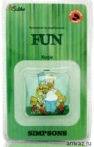 """Ароматизатор подвесной мембранный """"Fun Simpsons"""" Кофе"""