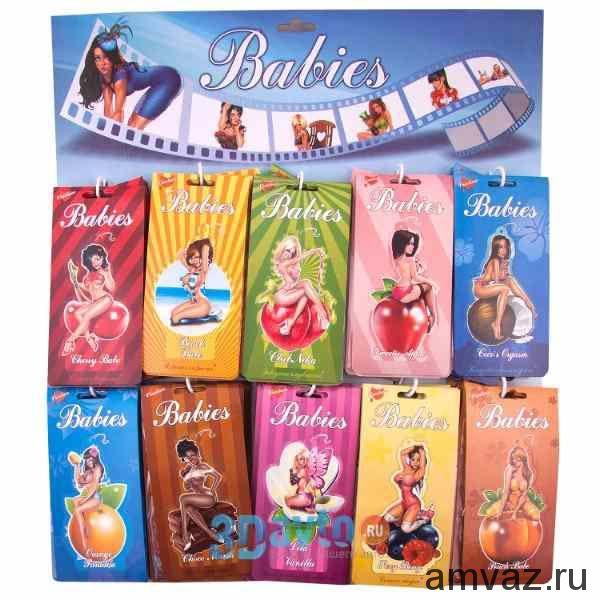 """Ароматизатор подвесной картонный """"Babies"""" панно 50шт (10SKUx5шт)"""