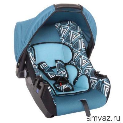 """Детское автомобильное кресло SIGER ART """"Эгида"""" геометрия, 0-1,5 лет, 0-13 кг, группа 0+"""