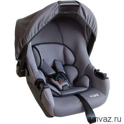 """Детское автомобильное кресло SIGER """"Эгида ЛЮКС"""" серый, 0-1,5 лет, 0-13 кг, группа 0+"""