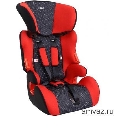 """Детское автомобильное кресло SIGER """"Космо"""" красный, 1-12 лет, 9-36 кг, группа 1/2/3"""