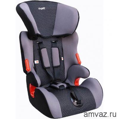 """Детское автомобильное кресло SIGER """"Космо"""" серый, 1-12 лет, 9-36 кг, группа 1/2/3"""