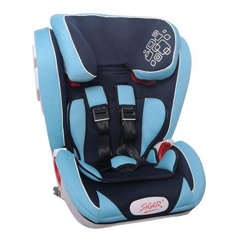 """Детское автомобильное кресло SIGER """"Индиго ISOFIX"""" синий, 1-12 лет, 9-36 кг, группа 1/2/3"""