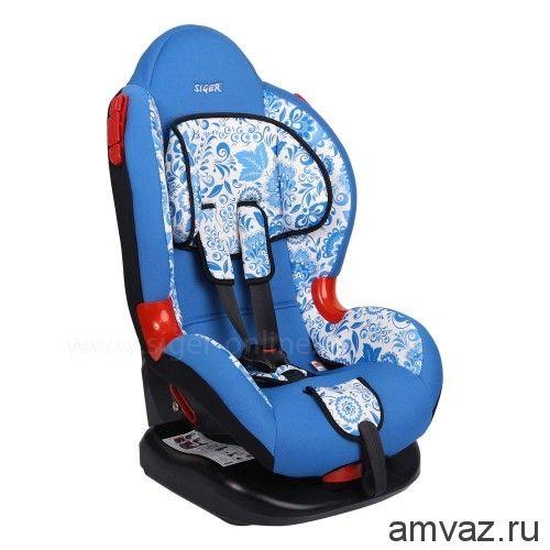 """Детское автомобильное кресло SIGER ART """"Кокон"""" хохлома, 1-7 лет, 9-25 кг, группа 1/2"""