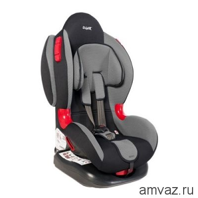"""Детское автомобильное кресло SIGER """"Кокон ISOFIX"""" серый, 1-7 лет, 9-25 кг, группа 1/2"""