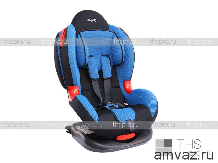 """Детское автомобильное кресло SIGER """"Кокон ISOFIX"""" синий, 1-7 лет, 9-25 кг, группа 1/2"""