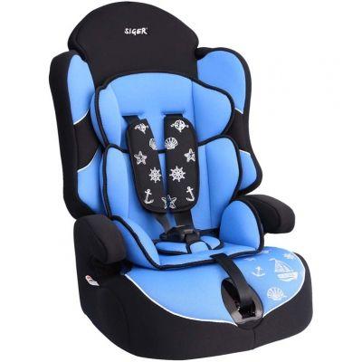 """Детское автомобильное кресло SIGER """"Драйв"""" голубой, 1-12 лет, 9-36 кг, группа 1/2/3"""
