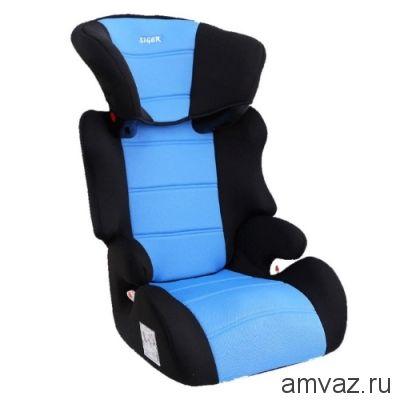 """Детское автомобильное кресло SIGER """"Смарт"""" голубой, 3-12 лет, 15-36 кг, группа 2/3"""