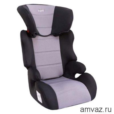 """Детское автомобильное кресло SIGER """"Смарт"""" серый, 3-12 лет, 15-36 кг, группа 2/3"""