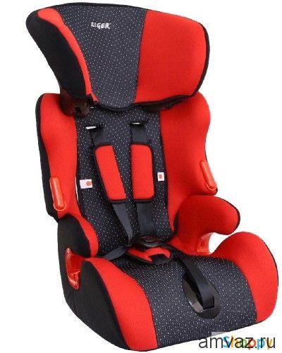 """Детское автомобильное кресло SIGER """"Спорт"""" красный, 3-12 лет, 15-36 кг, группа 2/3"""