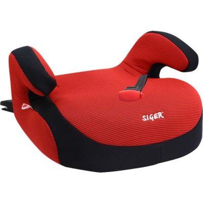 """Детское автомобильное кресло SIGER """"Бустер FIX"""" красный, 6-12 лет, 22-36 кг, группа 3"""