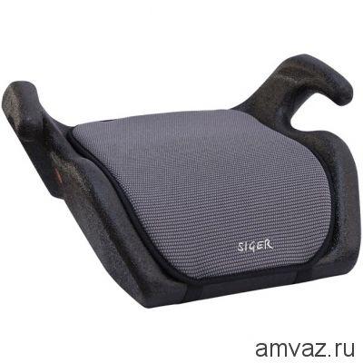 """Детское автомобильное кресло SIGER """"Мякиш"""" серый, 6-12 лет, 22-36 кг, группа 3"""