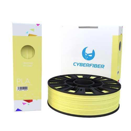 PLA пластик CyberFiber, 1,75мм, желтый, 750гр