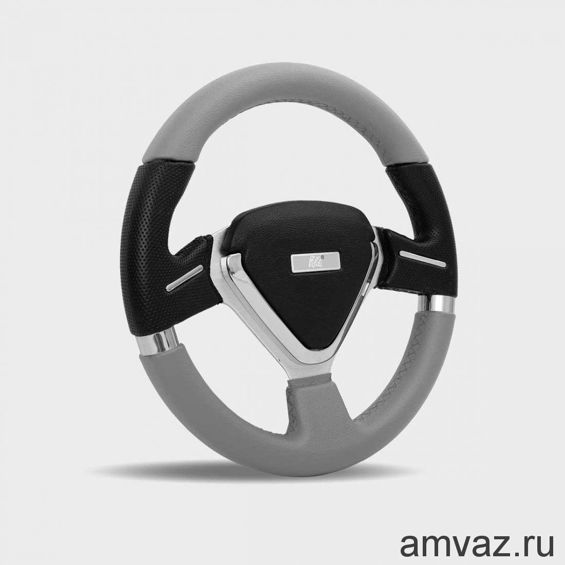 Руль спортивный Azard арт.4163 СЕРДЦЕ /СЕРЫЙ/