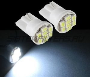 Лампа светодиодная Т10 (W5W) 8SMD 3020