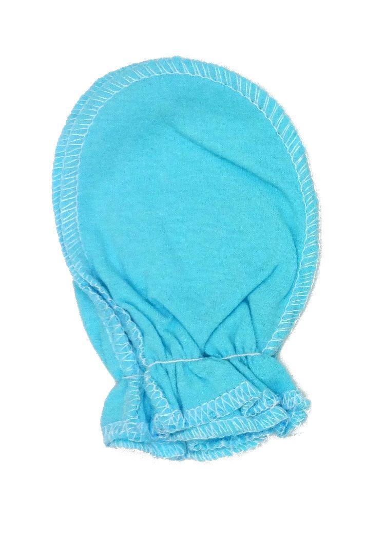 Рукавчики голубые для новорожденного