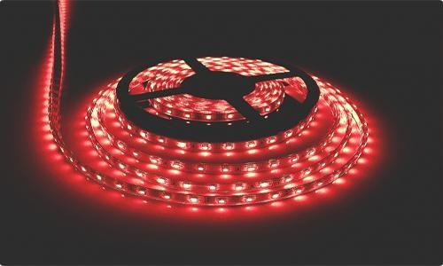 Лента светодиодная 3528R красная в силиконе 60LED/m