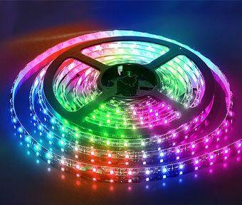 Светодиодная лента на светодиодах SMD5050RGB Lux 60LED на метр в силиконе