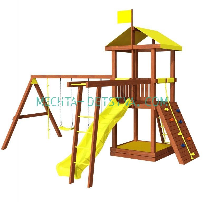 Детская площадка для дачи «Джунгли 4Р»
