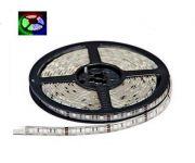 Светодиодная лента на светодиодах SMD5050RGB+WHITE 60LED на метр, в силиконе