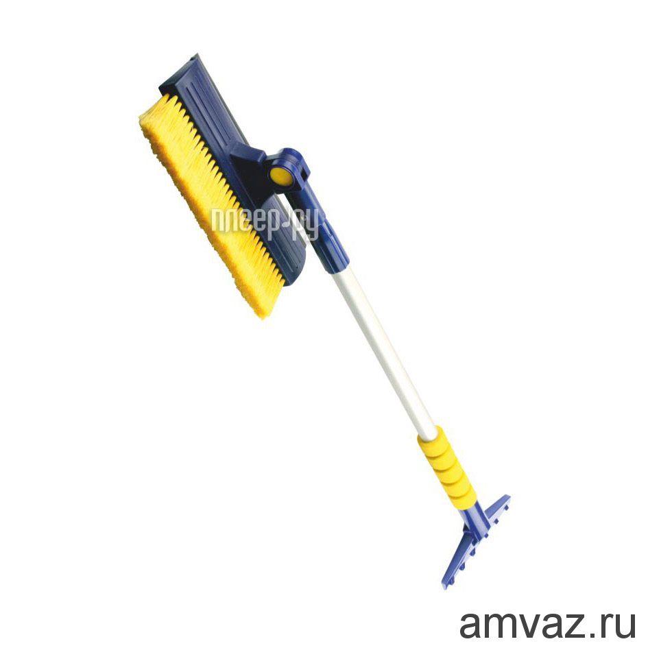 Телескопическая щетка для снега с поворотной головкой WB-08 76-110 см