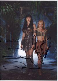 Автографы: Люси Лоулесс, Рене О'Коннор. Зена – королева воинов