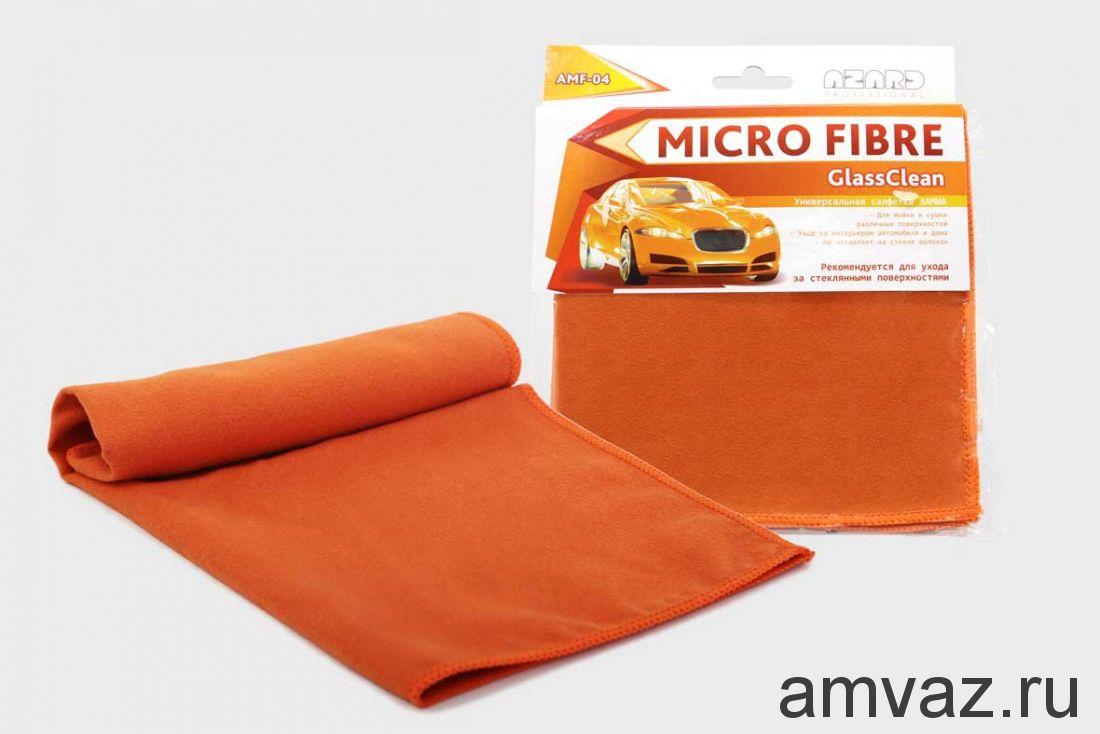 Салфетка замшевая из микрофибры GlassClean 34х34 арт. AMF-04