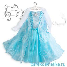 Поющее платье Эльзы с музыкальной брошкой