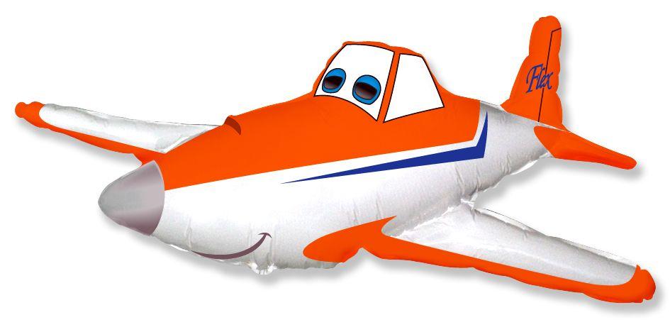 Шар (44''/112 см) Фигура, Гоночный самолет, Оранжевый