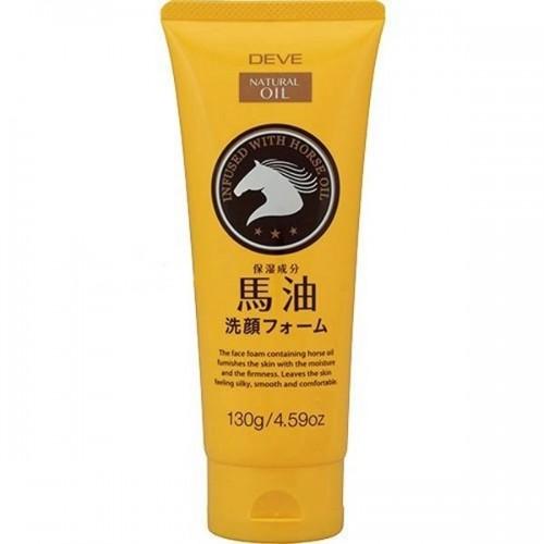 Японская Пенка для умывания с лошадиным маслом очищающая для жирной кожи DEVE