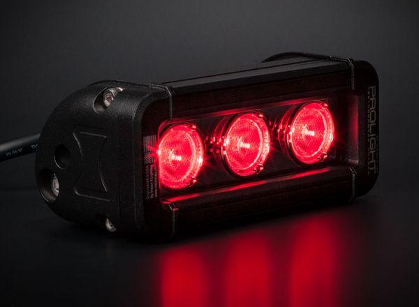 Cветодиодная фара Prolight Low Profile Color: XIL-LP360R красный свет