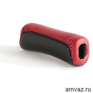 Ручка стояночного тормоза ВАЗ 2101-07, 2110-12 нат. кожа /КРАСНЫЙ/