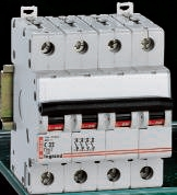 Автом. выкл. Legrand 4-пол. 16A -4М(тип C)
