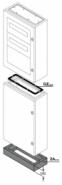 Цоколь 100х800х300 для шкафов ABB серии SR