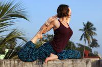 голубые индийские шаровары для женщин, из хлопка