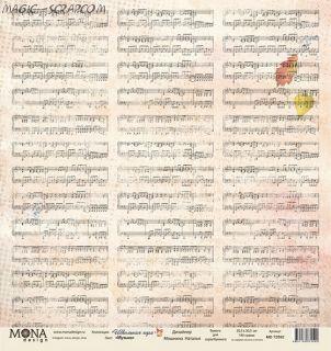 "Односторонняя бумага от MONA Design  ""Музыка"""