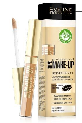 Корректор Eveline Art make-up 2в1 Prof
