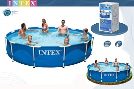 Каркасный бассейн Intex 28210 (56994). Сборный Metal Frame 366 x 76 см