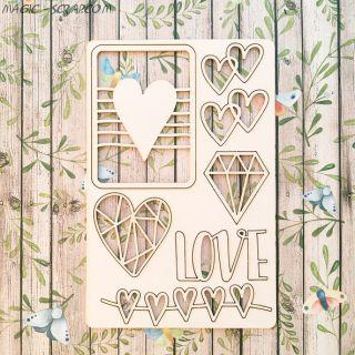 """Чипборд """"Love is"""""""
