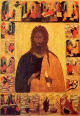 Икона Иоанн Предтеча с житием (копия 16 века)