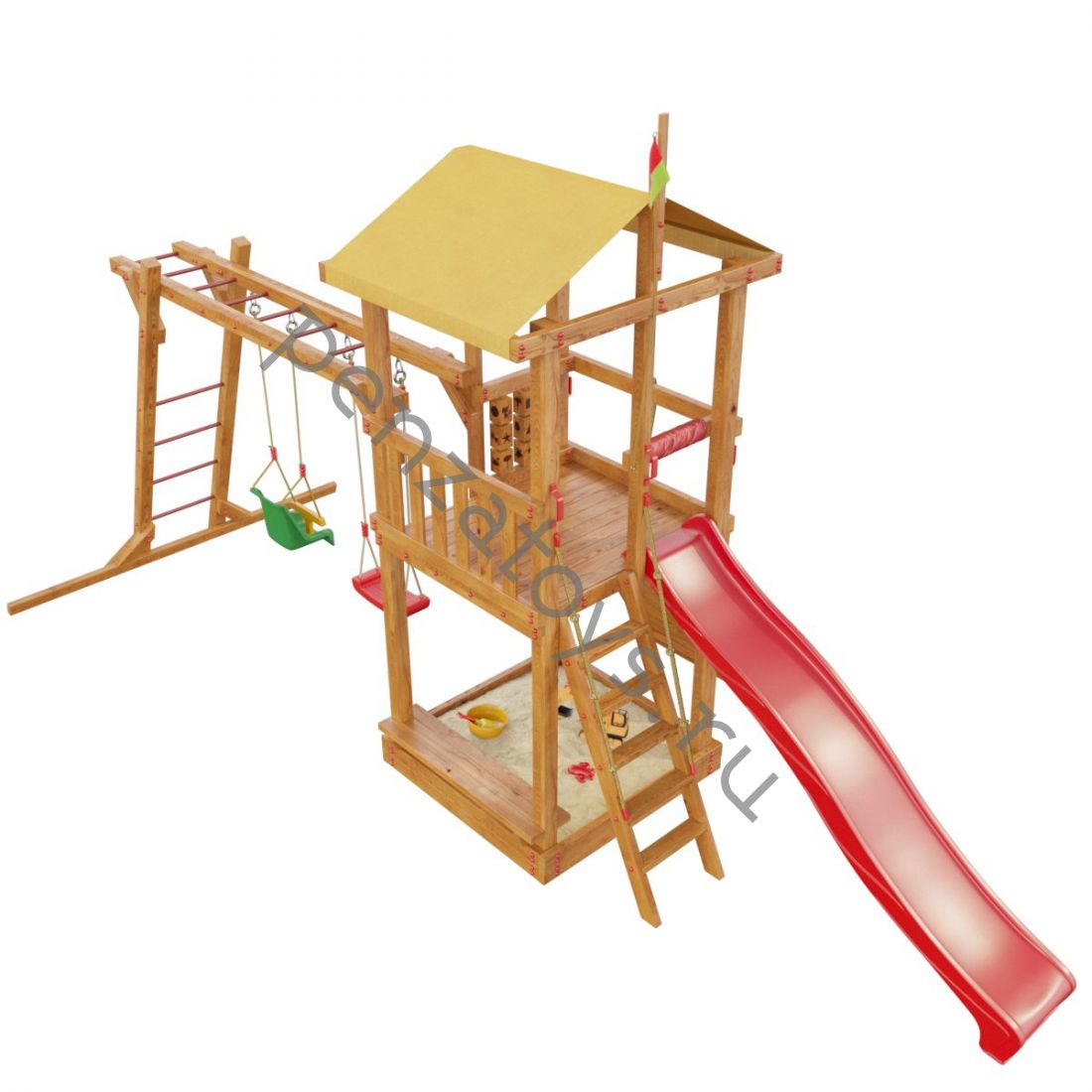 Детская игровая площадка Мадагаскар с рукоходом