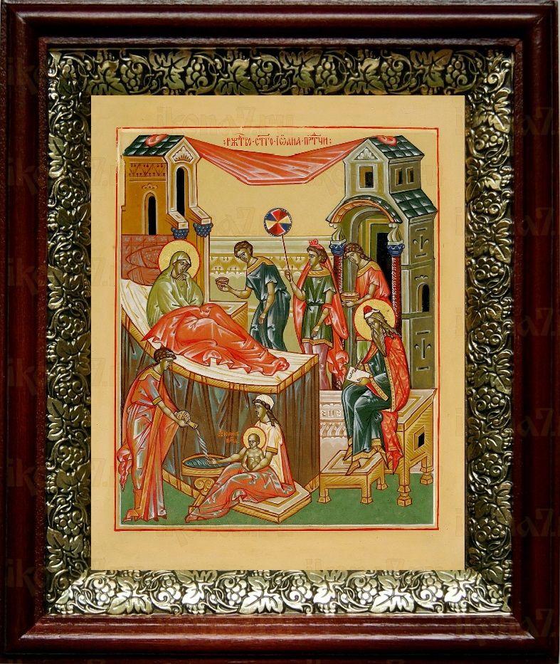 Рождество Иоанна Предтечи (19х22), темный киот