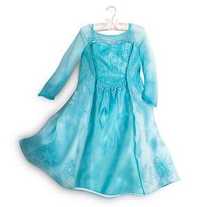 Костюм Эльзы Люкс  Elsa Frozen Disney Store платье Холодное сердце 4 года