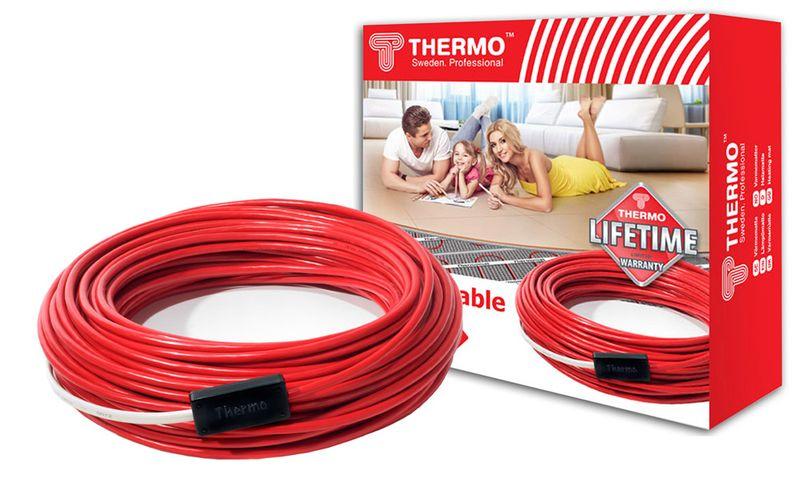 Нагревательный электрический кабель Thermo SVK-20 - длина 12 метров (площадь 1,5-1,8 м2)