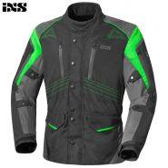 Куртка текстильная IXS Tarel, Черно-зеленая