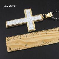 Крест с алмазной крошкой