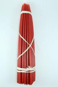 Свечи первый сорт (Красные) №5 вес 800 гр., высота 390 мм., диаметр 8 мм., 50 свечей в пачке